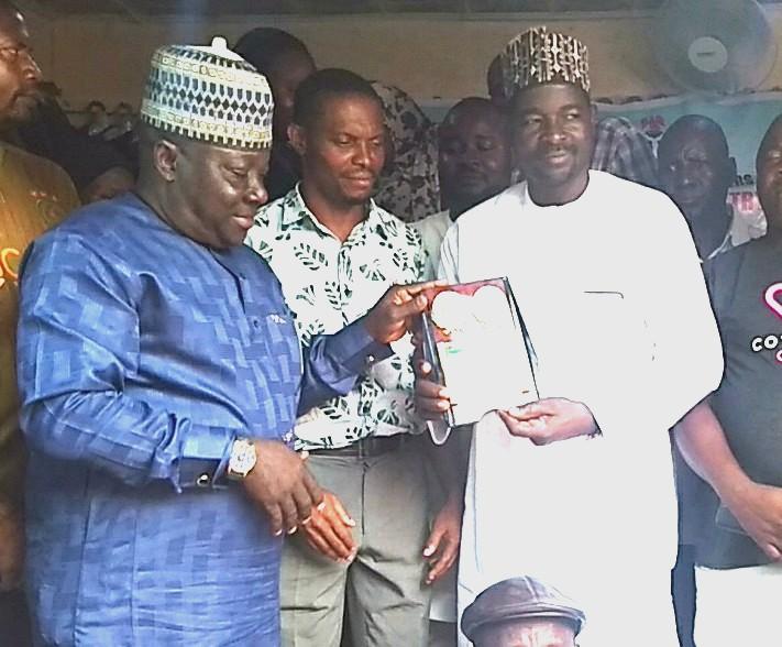 Turaki Gidan Katta Illela and Chairman Abuja Area 7 Petty Traders Association, Abdullahi Ahmed Musa Bags PSM Security Award