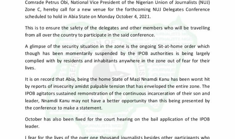 """VINDICATED!!! PETRUS OBI, S/EAST NUJ VICE PRESIDENT CONFIRMS PEOPLE'S SECURITY MONITOR STORY…DESCRIBES ABIA VENUE OF NUJ ELECTION A """"DEATH TRAP"""""""